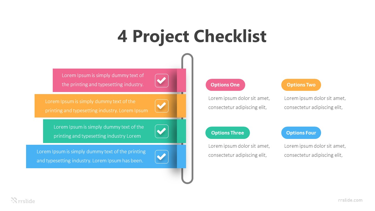 4 Project Checklist Infographic Template