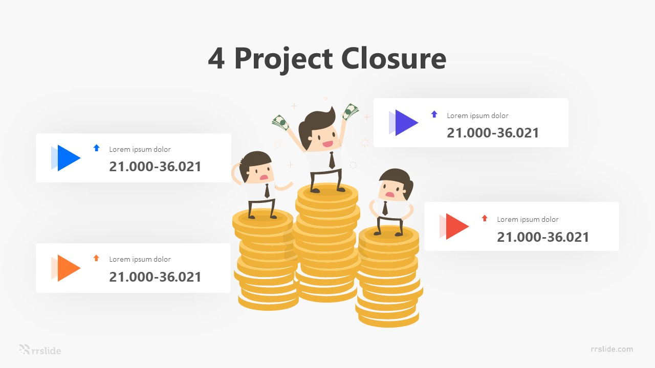 4 Project Closure Infographic Template