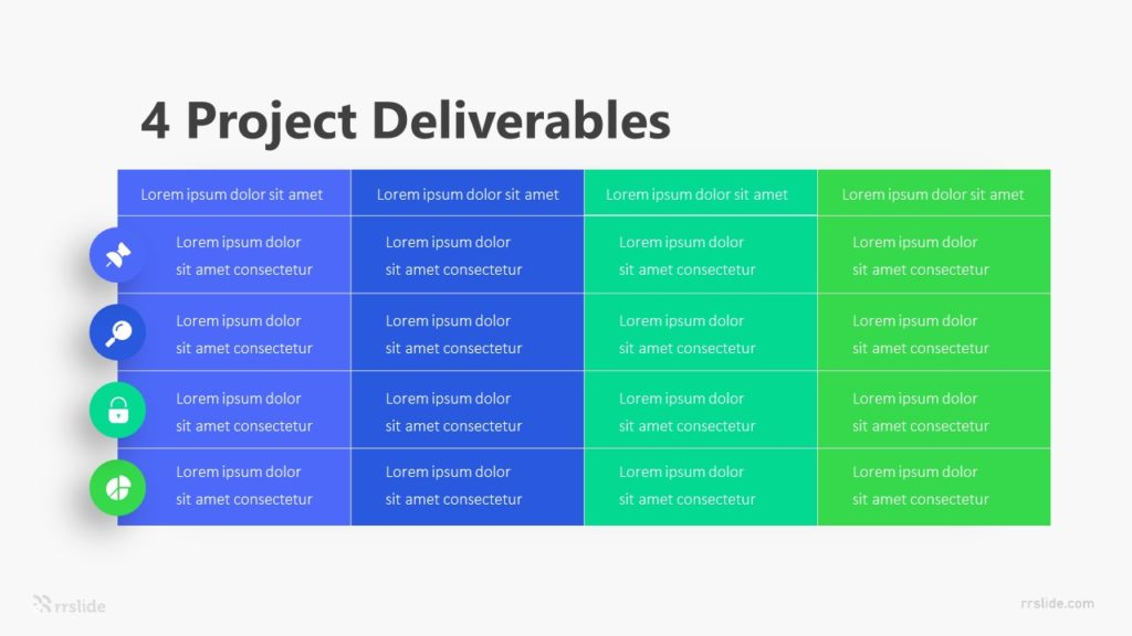4 Project Deliverables Infographic Template