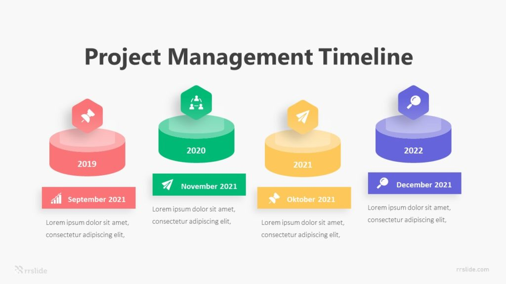 4 Project Management Timeline Infographic Template
