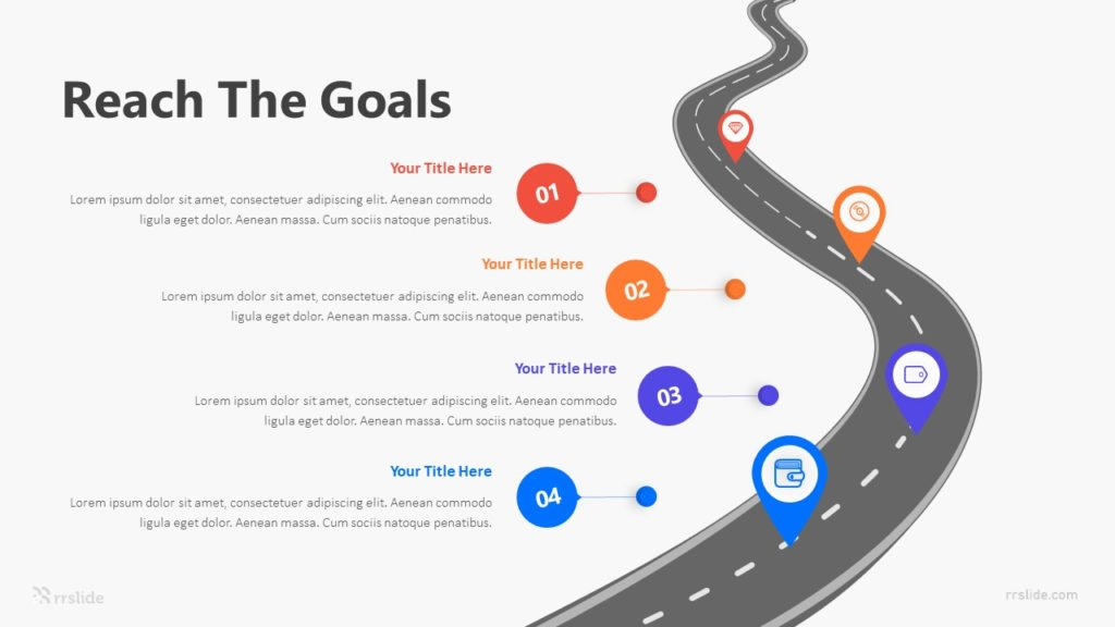 4 Reach The Goals Infographic Template