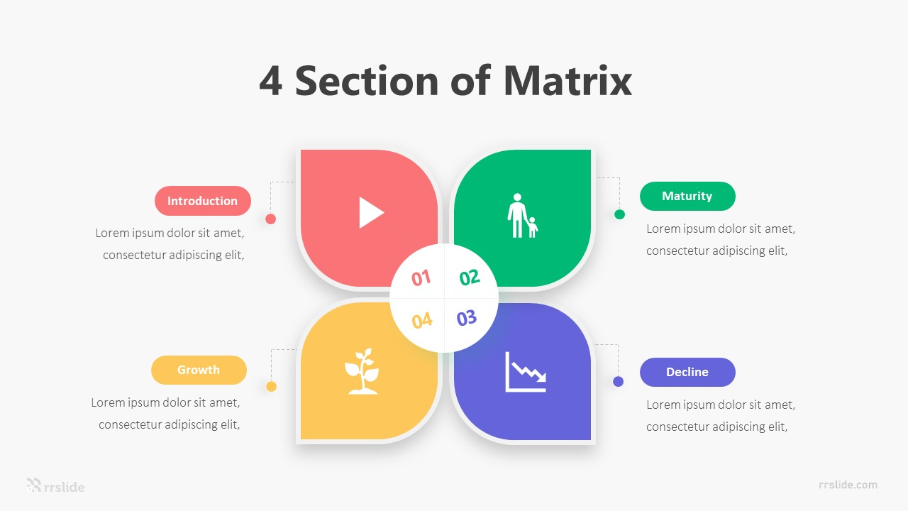 4 Section of Matrix Infographic Template