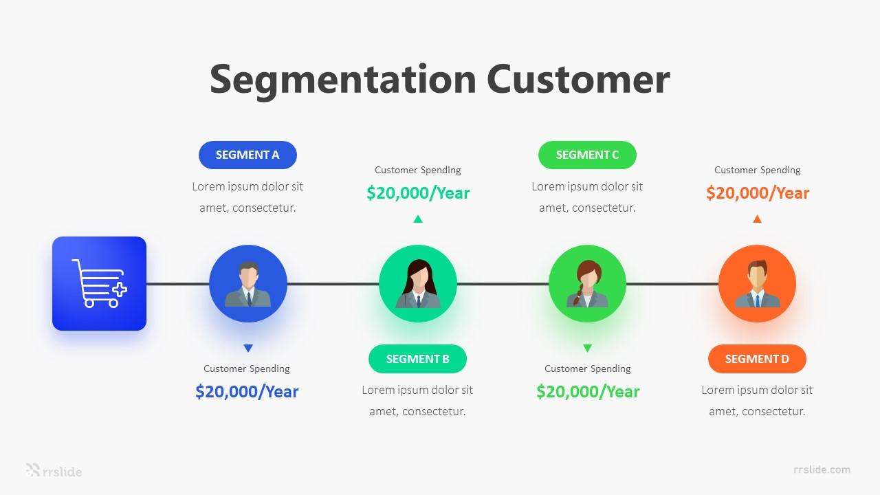 4 Segmentation Customer Infographic Template