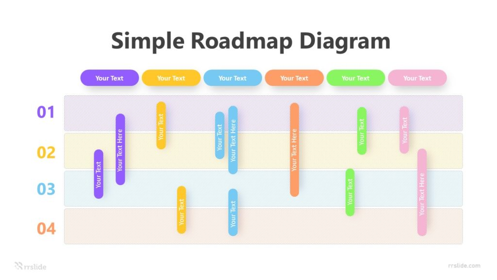 4 Simple Roadmap Diagram Infographic Template
