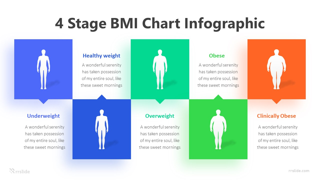 4 Stage BMI Chart Infographic Template