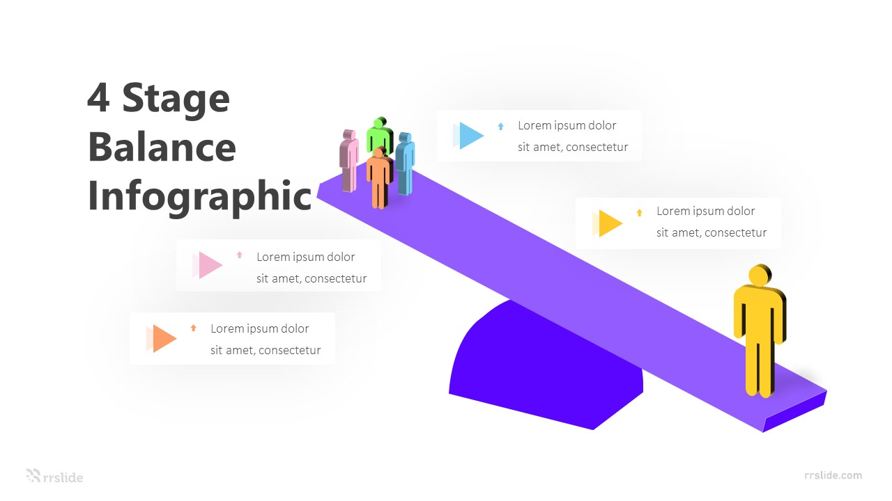 4 Stage Balance Infographic Template