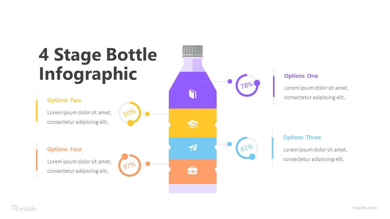 4 Stage Bottle Infographic Template