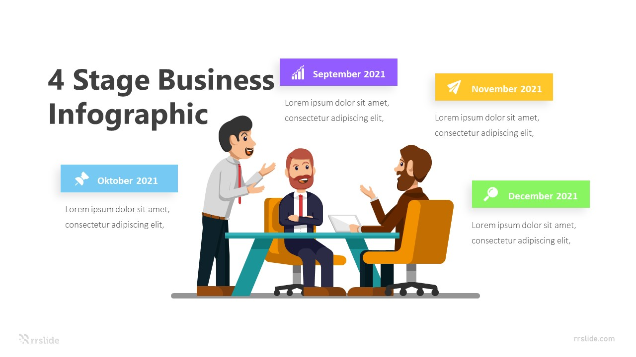 4 Stage Business Infographic Template