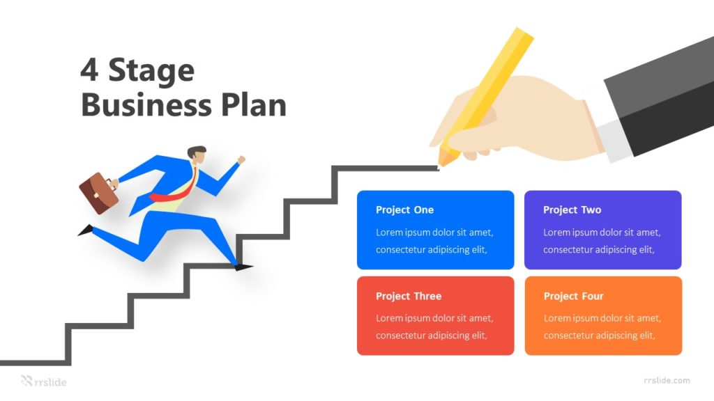 4 Stage Business Plan Infographic Template