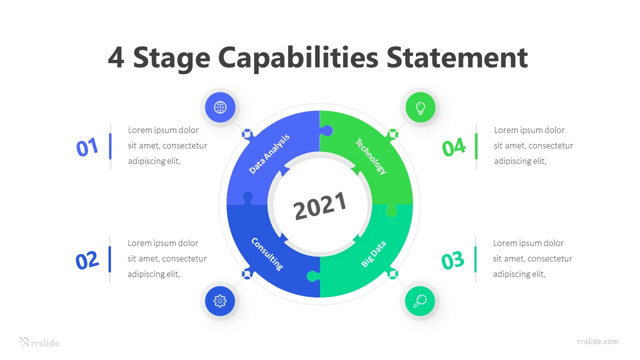 4 Stage Capabilities Statement Infographic Template