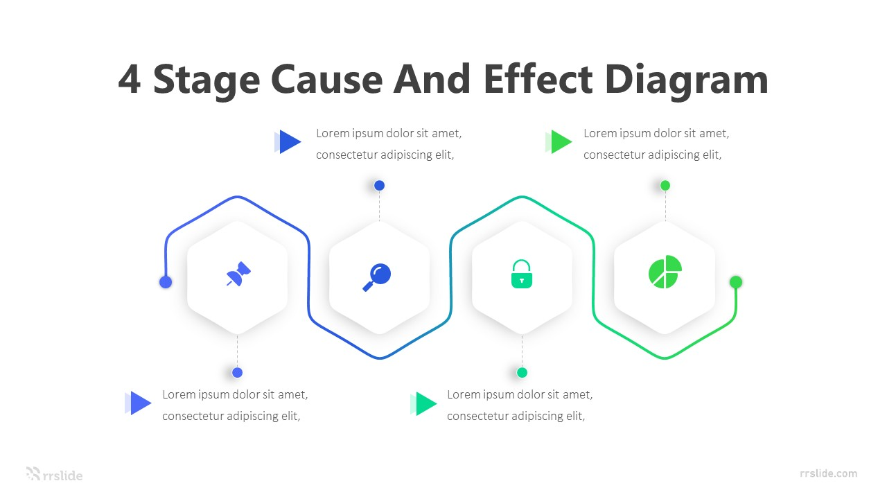 4 Stage Cause And Effect Diagram Infographic Template