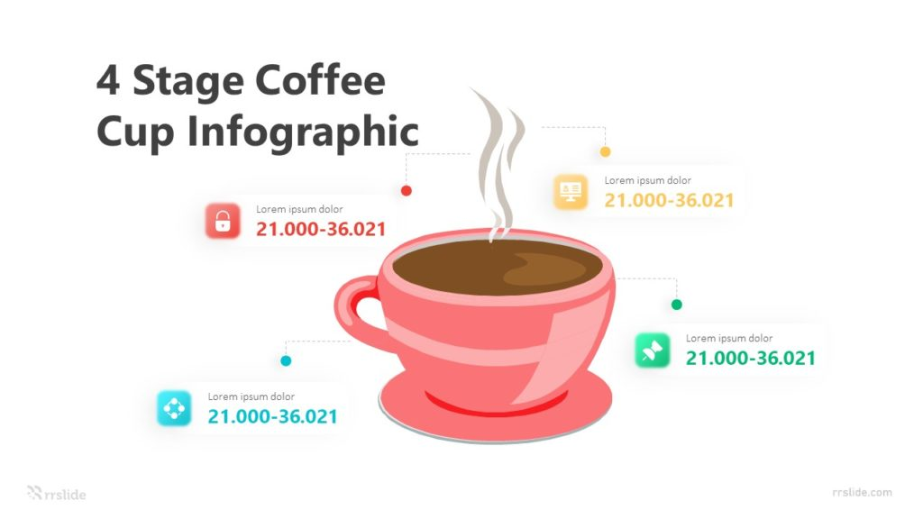 4 Stage Coffee Cup Infographic Template