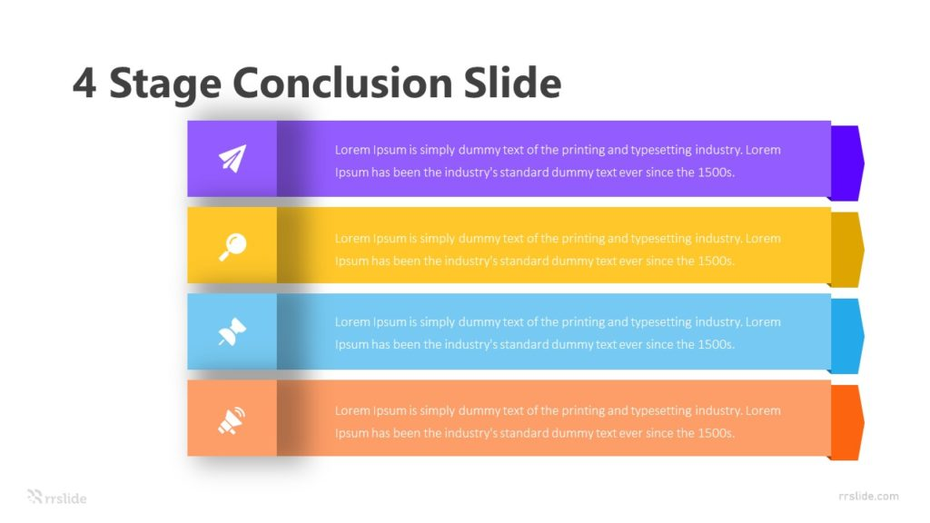 4 Stage Conclusion Slide Infographic Template