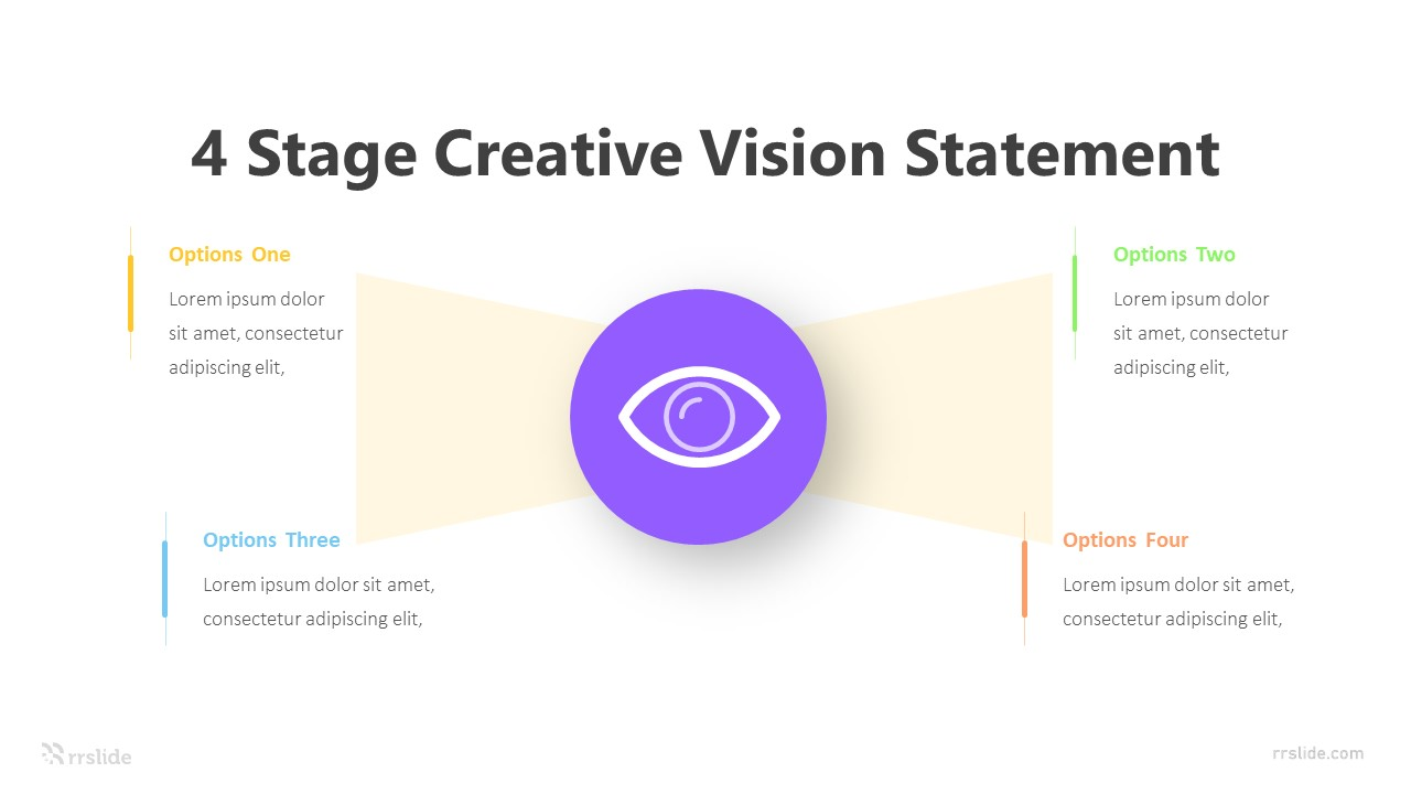 4 Stage Creative Vision Statement Infographic Template