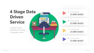 4 Stage Data Driven Service Infographic Template
