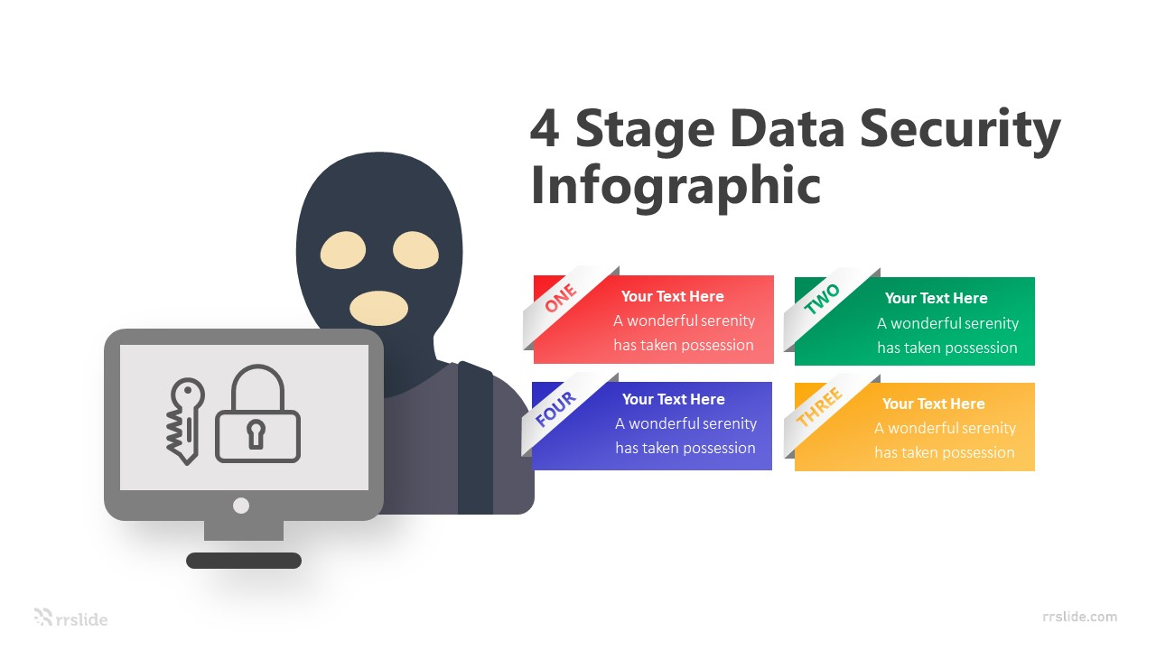 4 Stage Data Security Infographic Template
