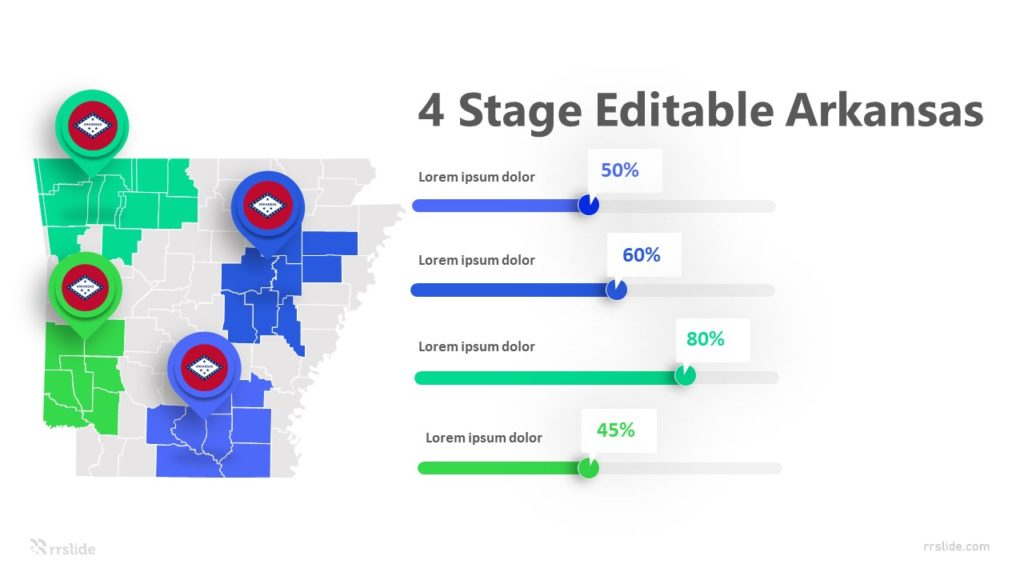 4 Stage Editable Arkansas Infographic Template