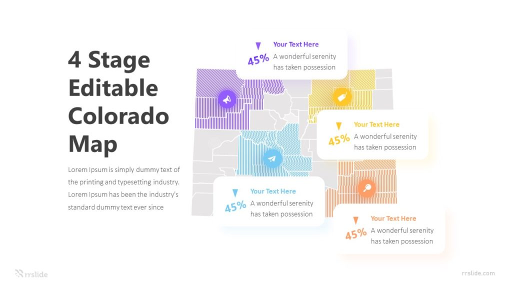 4 Stage Editable Colorado Map Infographic Template