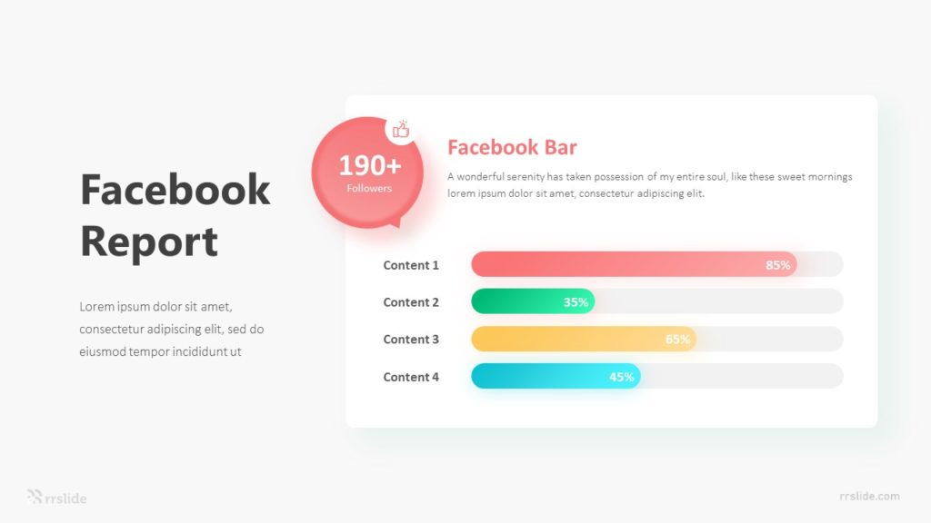 4 Stage Facebook Report Infographic Template