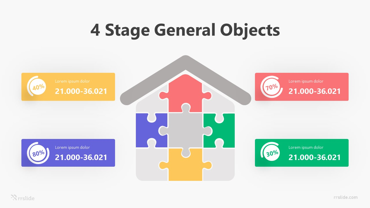 4 Stage General Objects Infographic Template