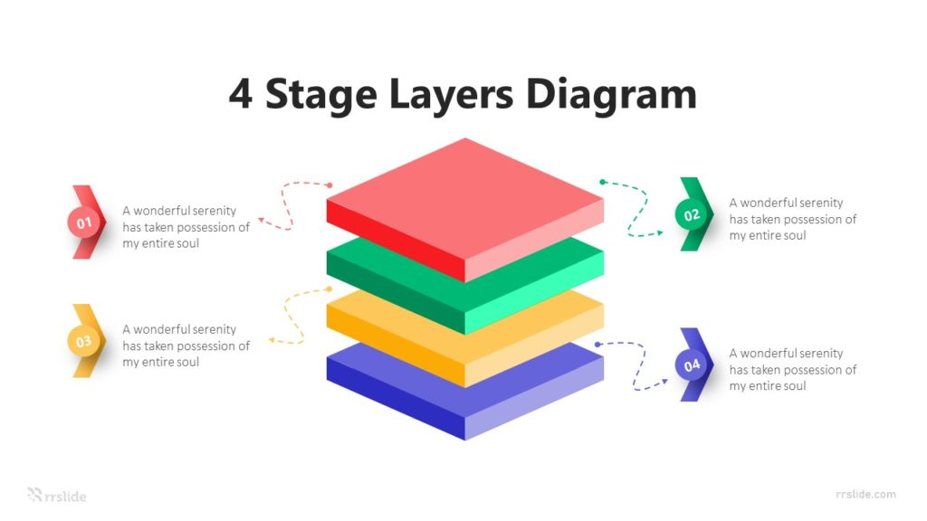 4 Stage Layers Diagram Infographic Template
