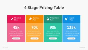 4 Stage Pricing Table Infographic Template