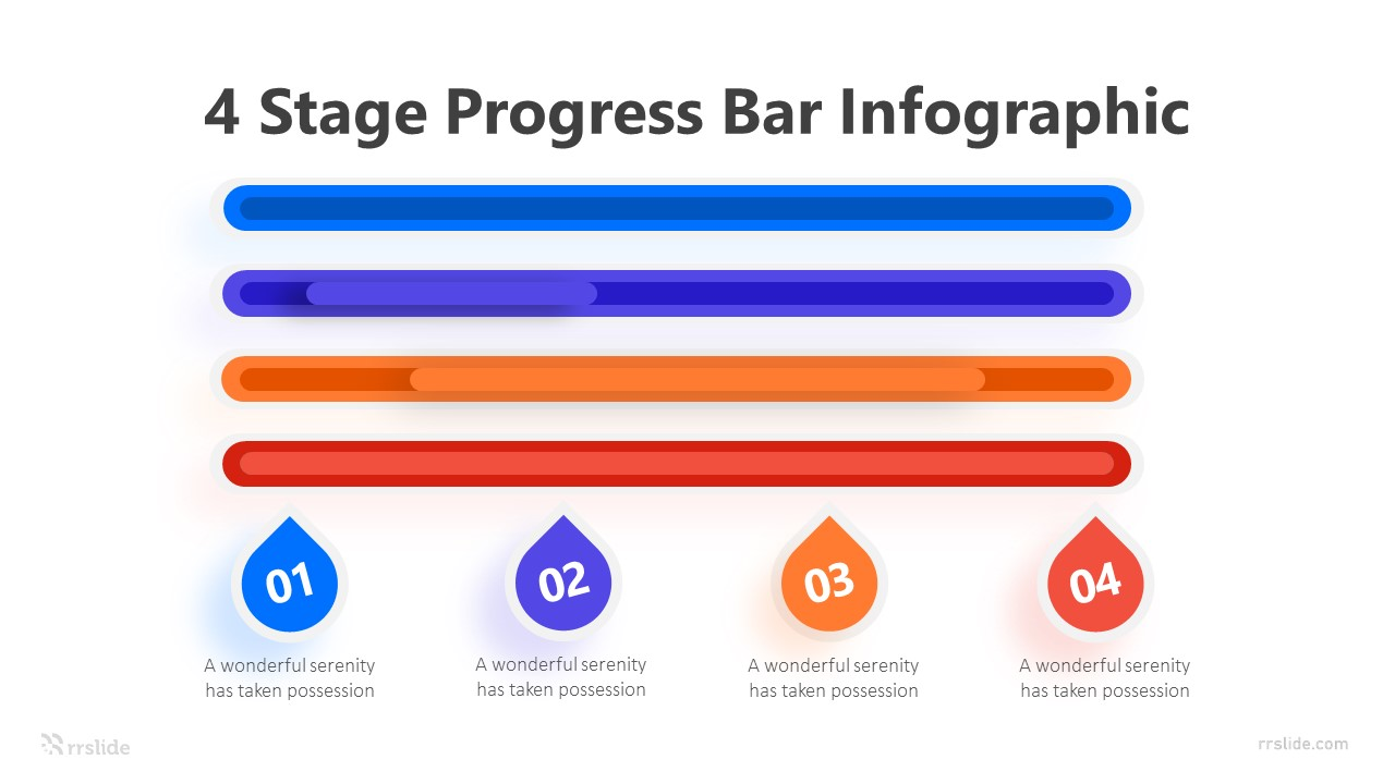 4 Stage Progress Bar Infographic Template