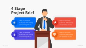 4 Stage Project Brief Infographic Template