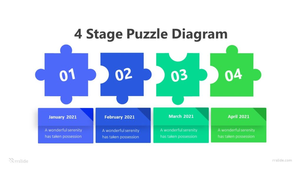 4 Stage Puzzle Diagram Infographic Template