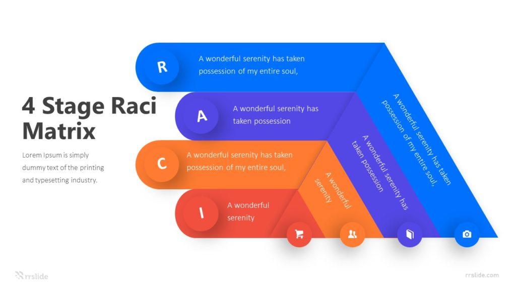 4 Stage Raci Matrix Infographic Template
