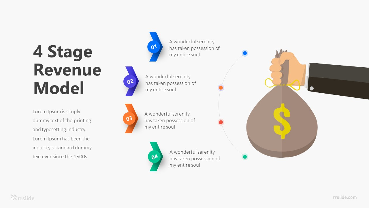 4 Stage Revenue Model Infographic Template
