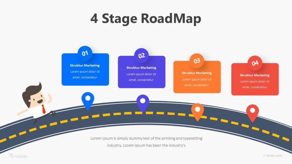 4 Stage RoadMap Infographic Template