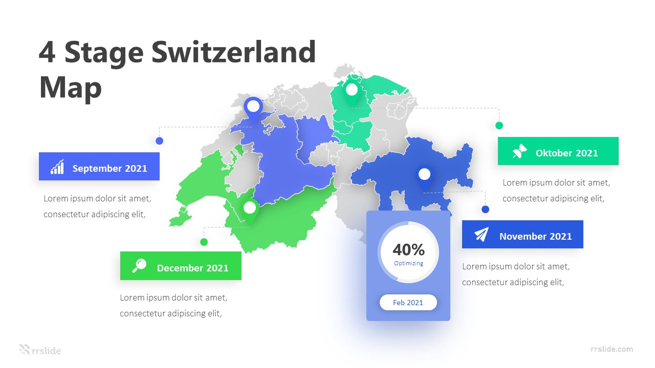 4 Stage Switzerland Map Infographic Template