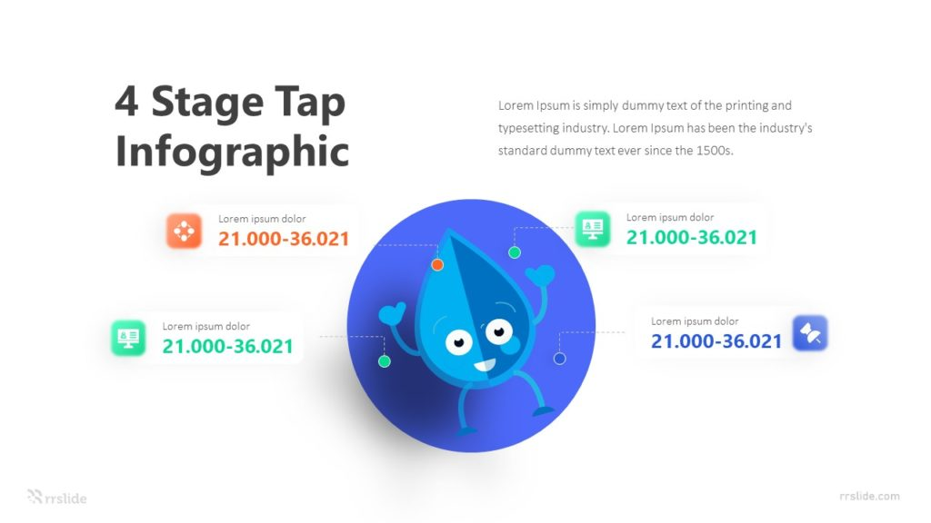 4 Stage Tap Infographic Template