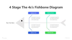 4 Stage The 4s's Fishbone Diagram Infographic Template