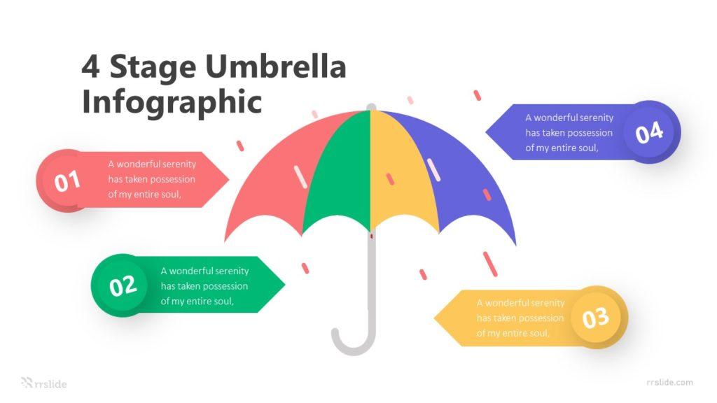 4 Stage Umbrella Infographic Template