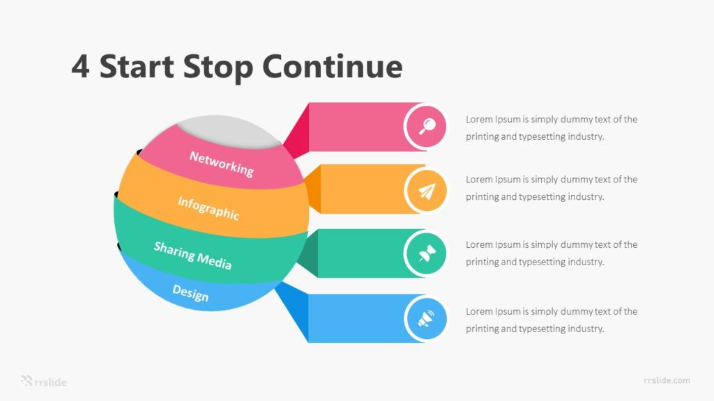 4 Start Stop Continue Infographic Template
