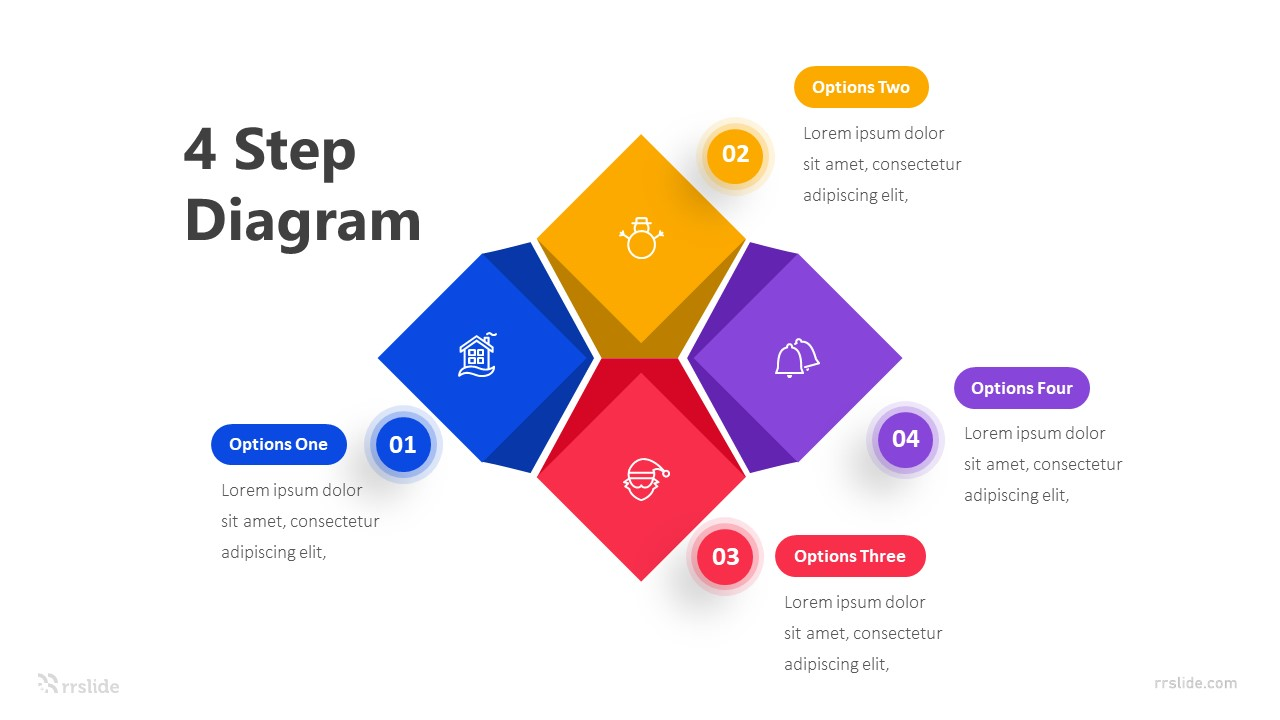 4 Step Diagram Infographic Template