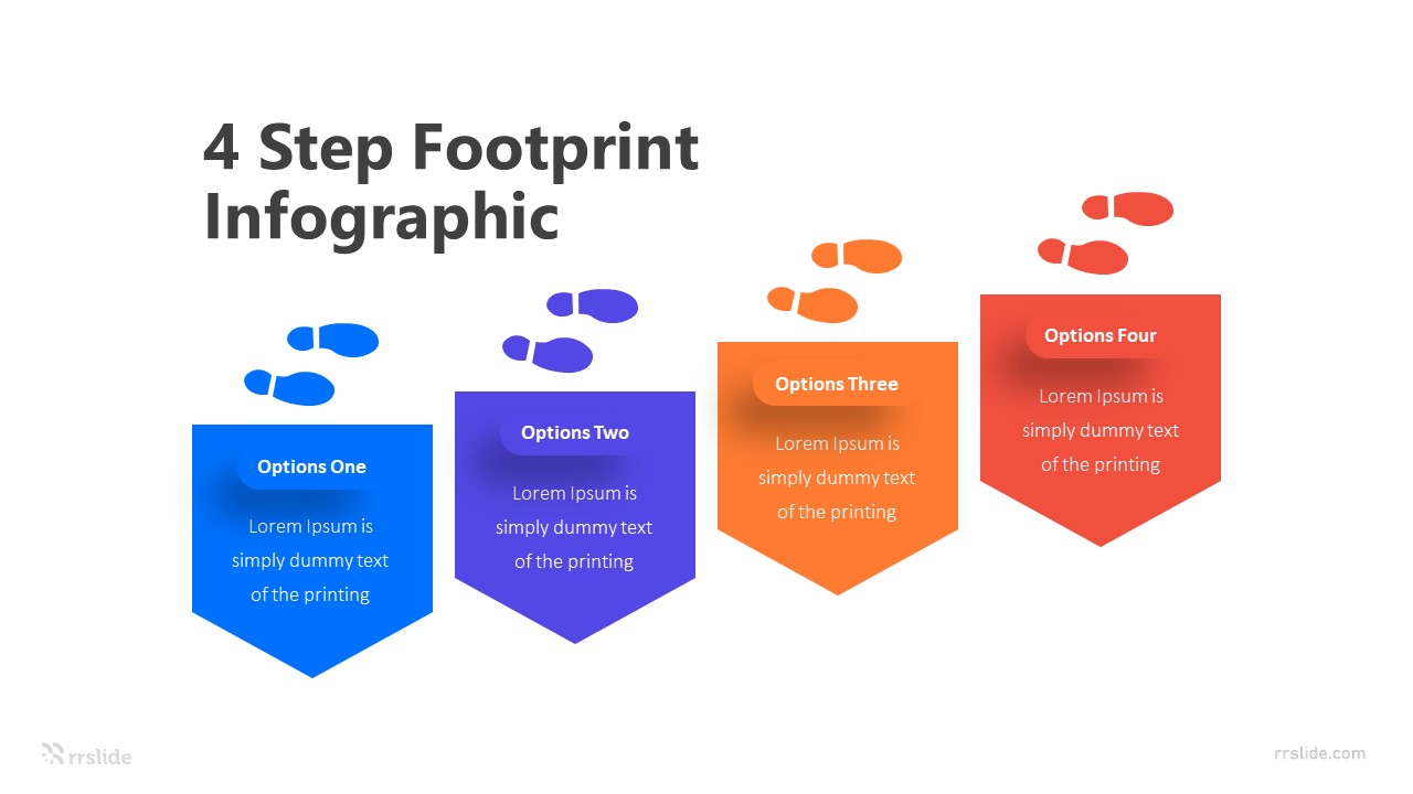 4 Step Footprint Infographic Template