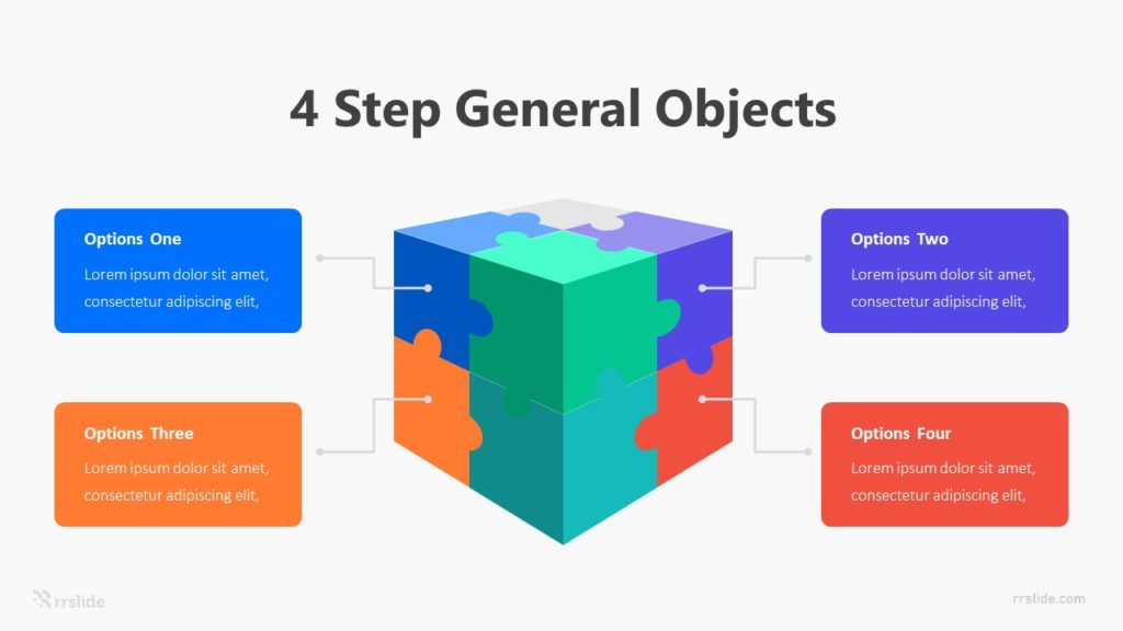 4 Step General Objects Infographic Template