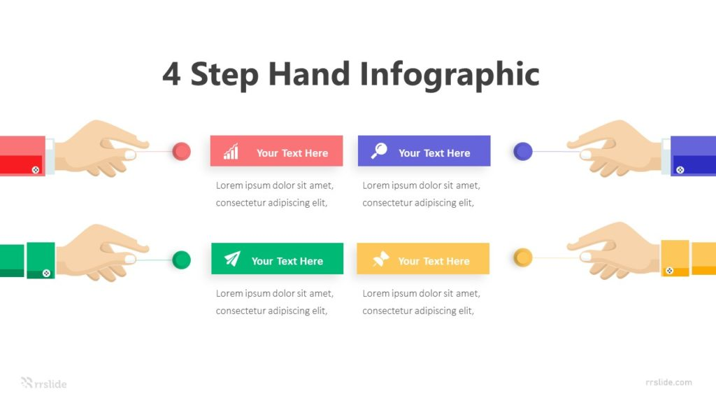 4 Step Hand Infographic Template