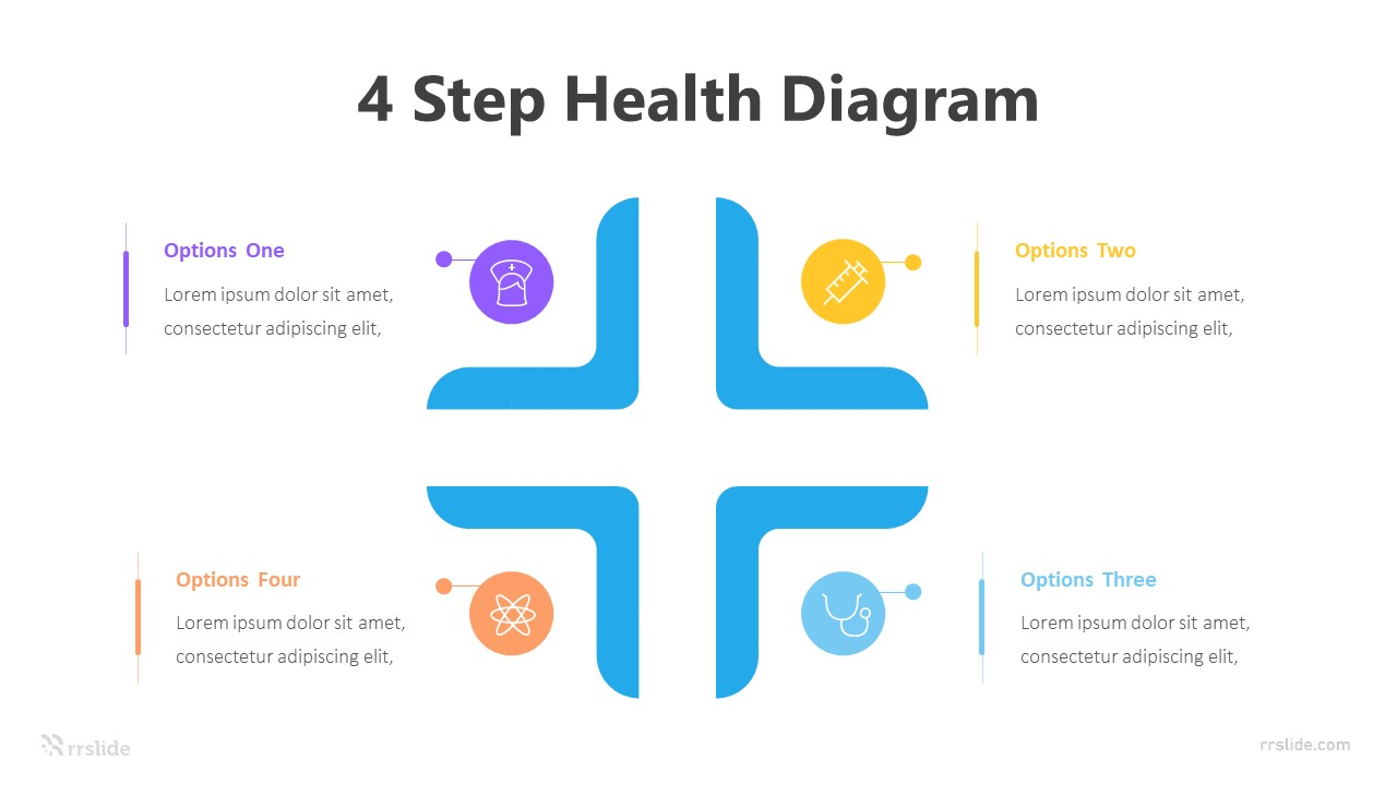 4 Step Health Diagram Infographic Template