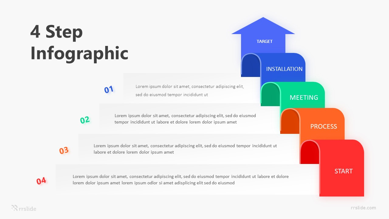 4 Step Infographic Template