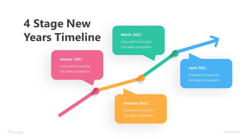 4 Step New Years Timeline Infographic Template