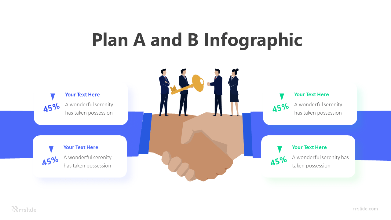 4 Step Plan A and B Infographic Template