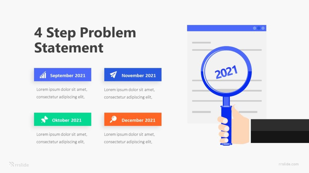 4 Step Problem Statement Infographic Template