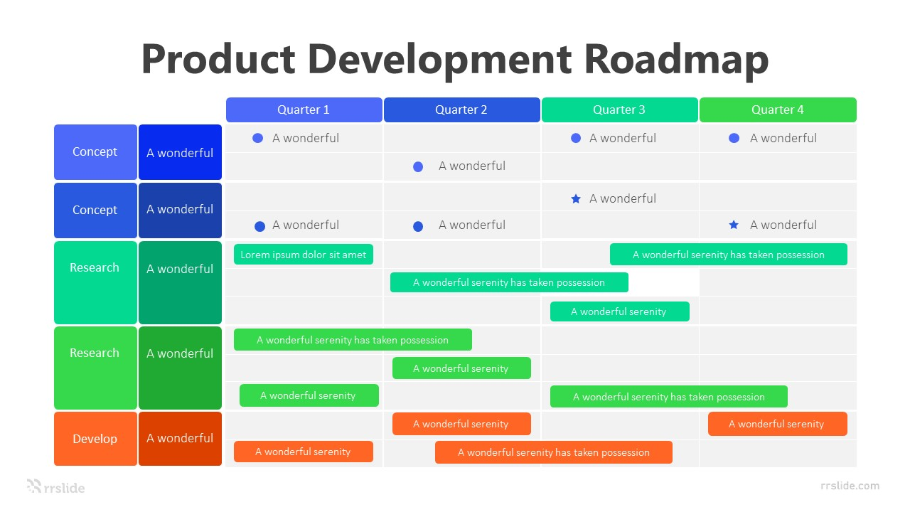 4 Step Product Development Roadmap Infographic Template