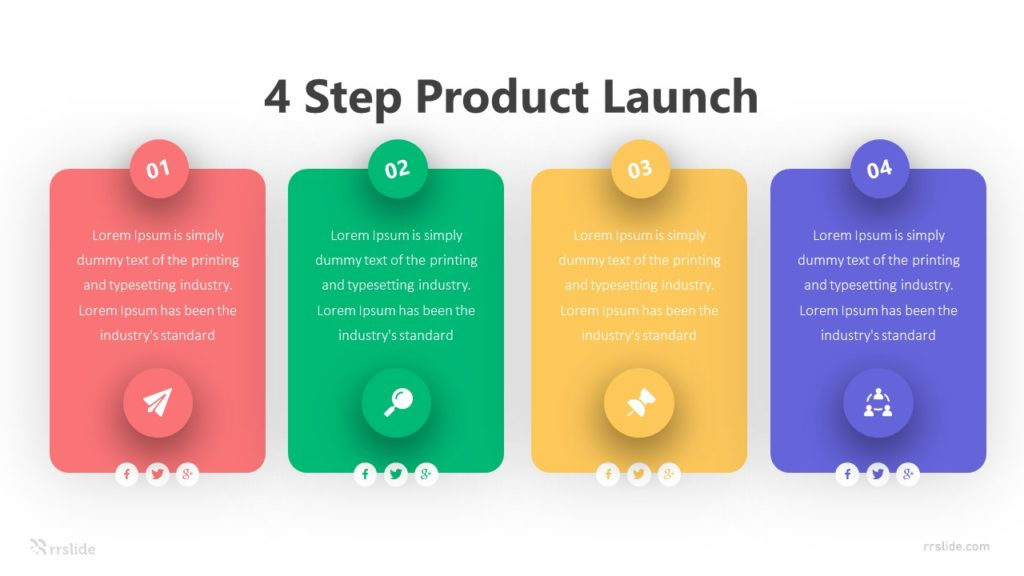 4 Step Product Launch Infographic Template