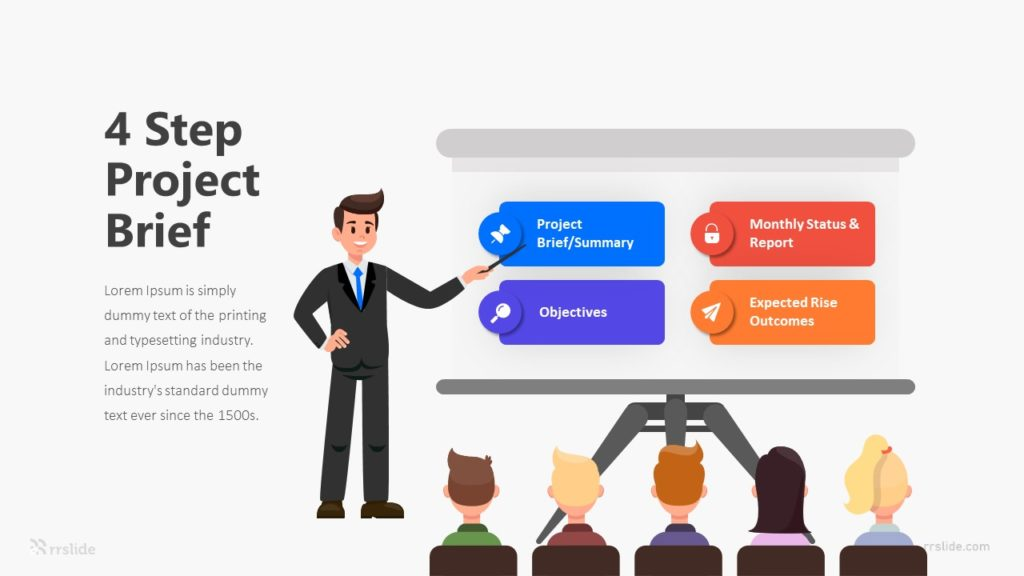 4 Step Project Brief Infographic Template