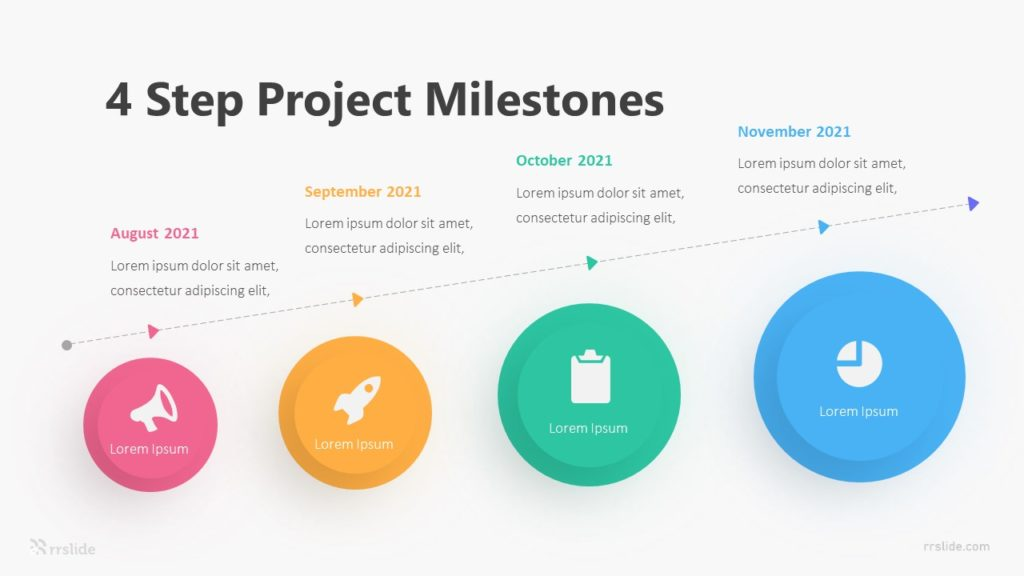 4 Step Project Milestones Infographic Template